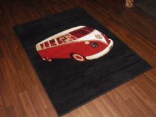 Modern Aprox 6x4 115x1165cm Woven Camper Rugs Sale Top Quality Black/Red rug